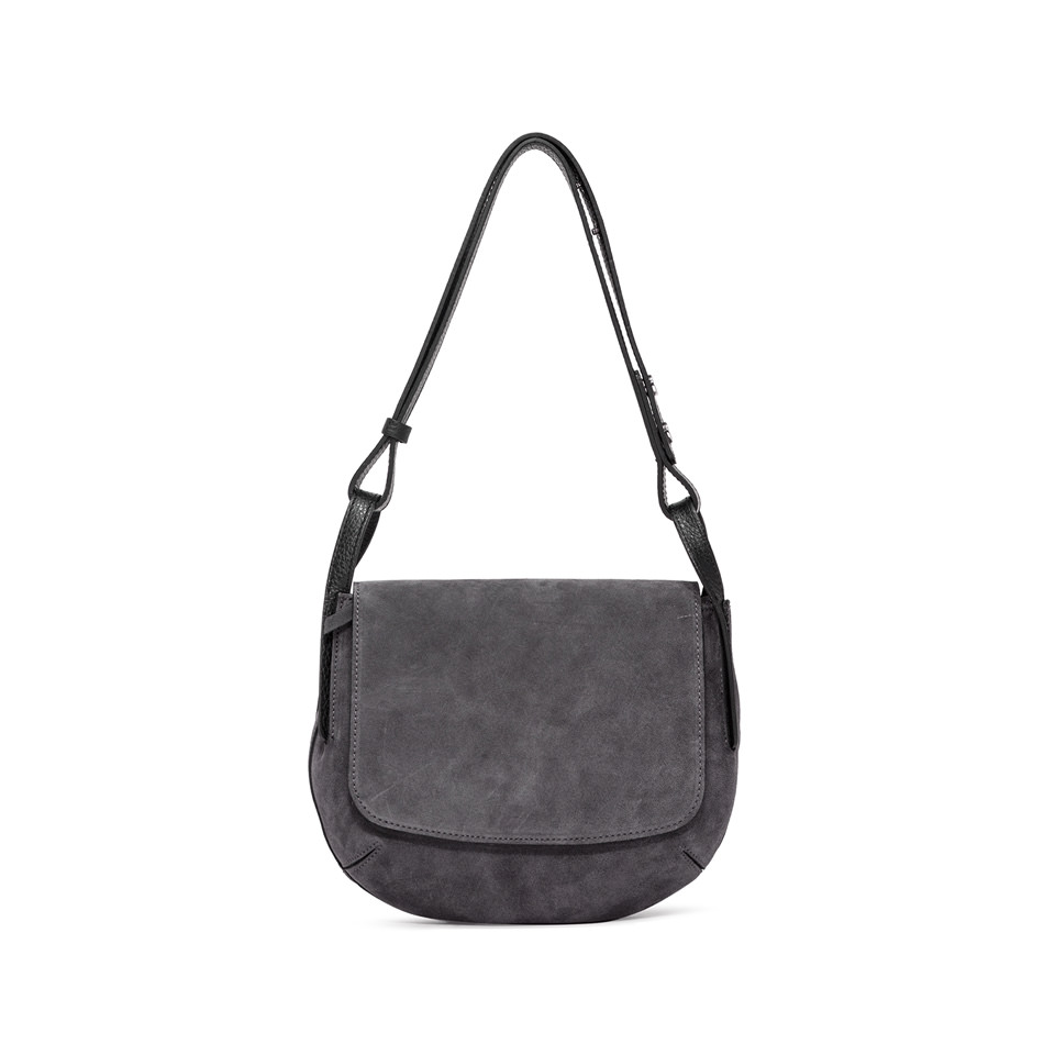 GIANNI CHIARINI: MEDIUM SIZE JOHANNA SHOULDER BAG COLOR GRAY