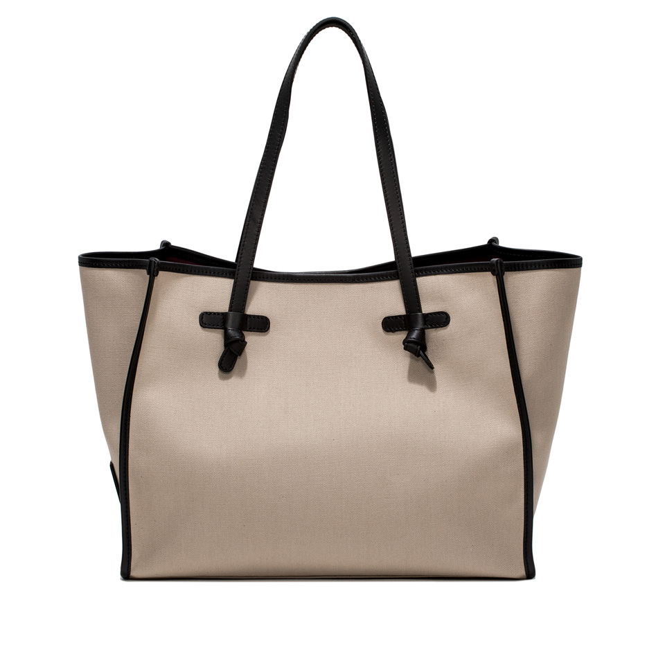 GIANNI CHIARINI: MARCELLA SHOPPING MEDIUM BEIGE