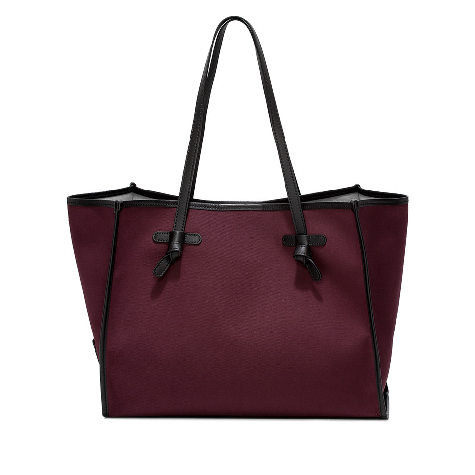GIANNI CHIARINI: MARCELLA DOUBLE MEDIUM BURGUNDY SHOULDER BAG