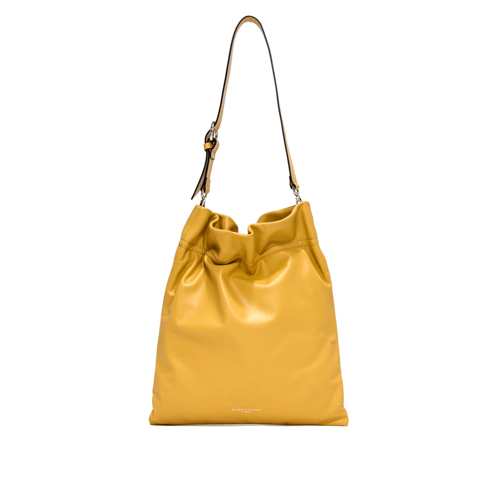 GIANNI CHIARINI: LARGE SIZE MEMORY CROSSBODY BAG COLOR YELLOW