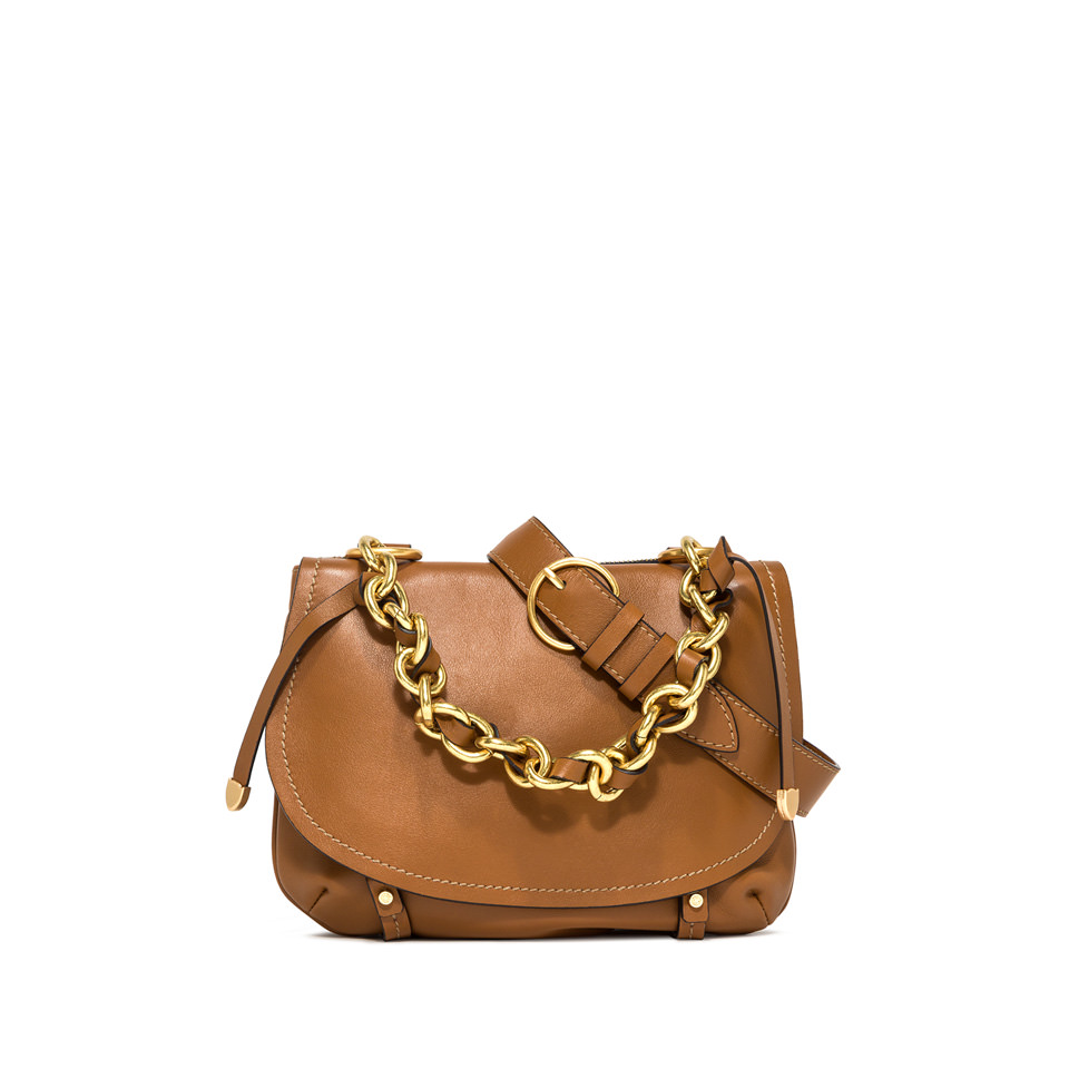 GIANNI CHIARINI: MEDIUM SIZE OLYMPIA SHOULDER BAG COLOR BROWN