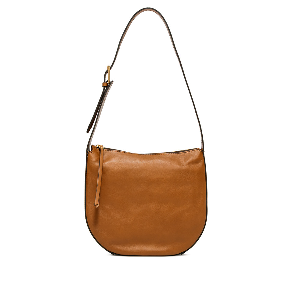 GIANNI CHIARINI: PETRA  MEDIUM  BROWN SHOULDER  BAG