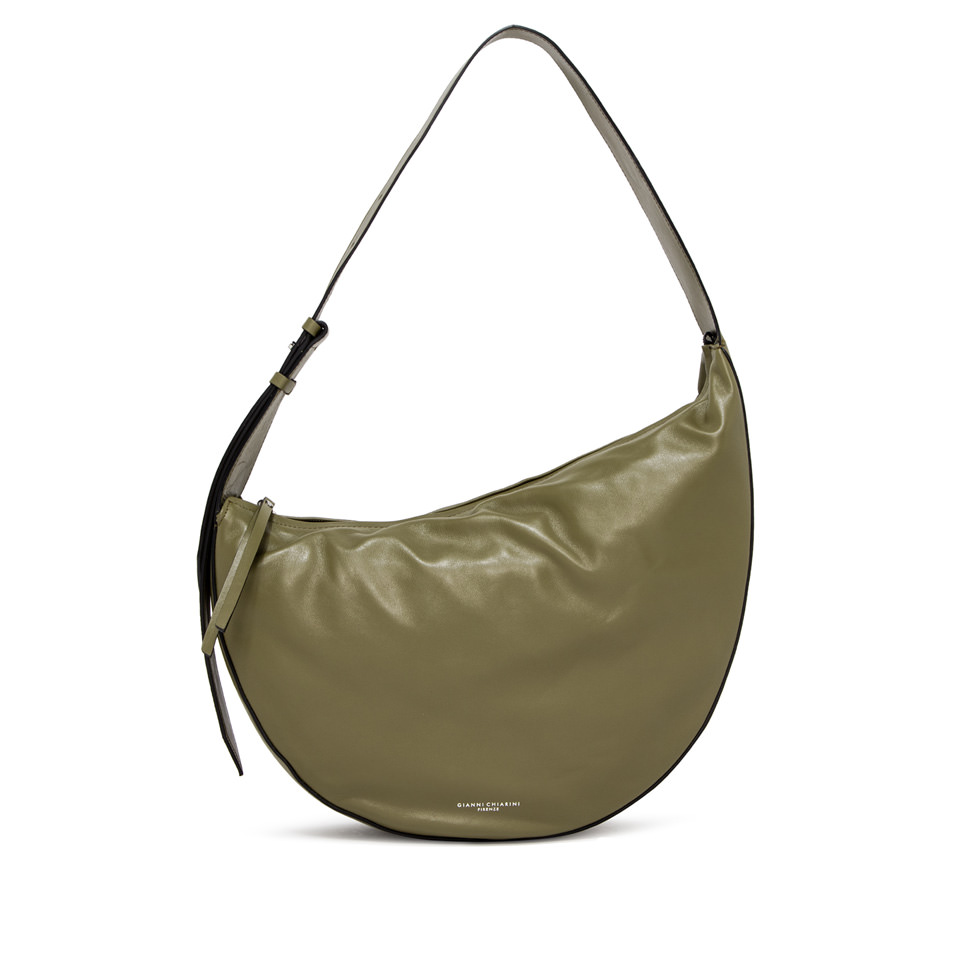 GIANNI CHIARINI: LARGE SIZE SWAN SHOULDER BAG COLOR GREEN