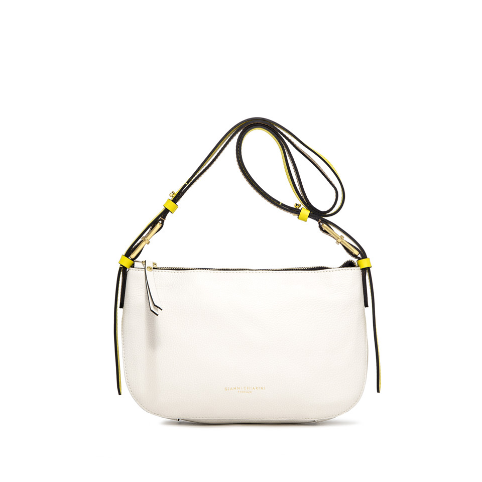 GIANNI CHIARINI: MEDIUM SIZE SWAN SHOULDER BAG COLOR WHITE