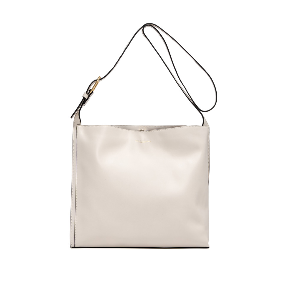 GIANNI CHIARINI: LARGE SIZE TWIGGY SHOULDER BAG COLOR WHITE