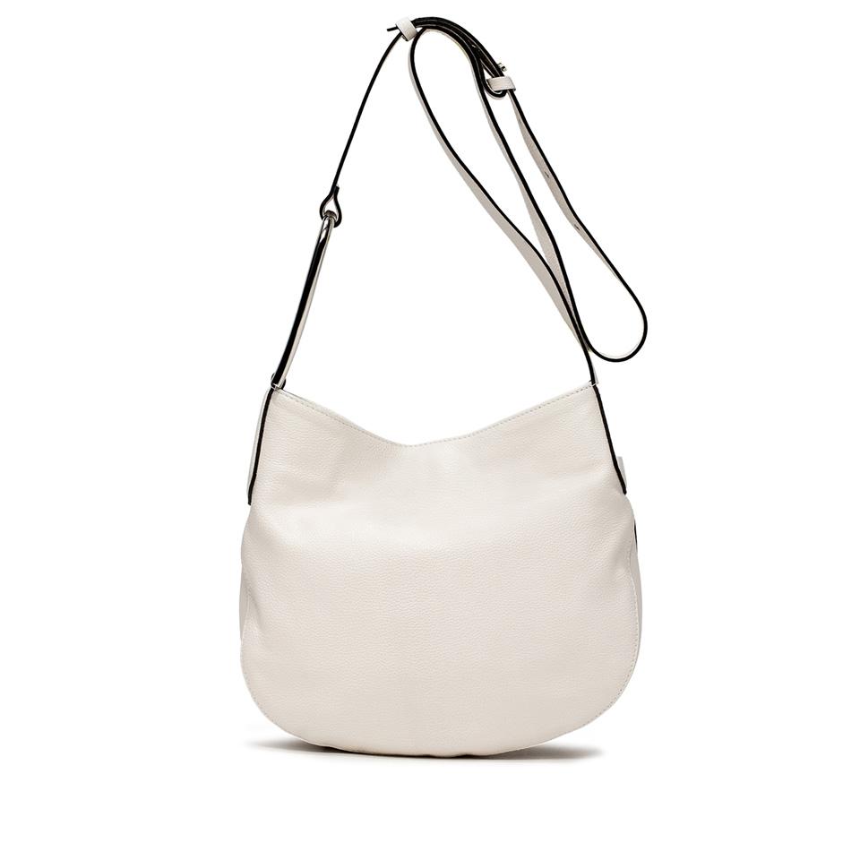 GIANNI CHIARINI: ADA LARGE WHITE CROSS BODY BAG