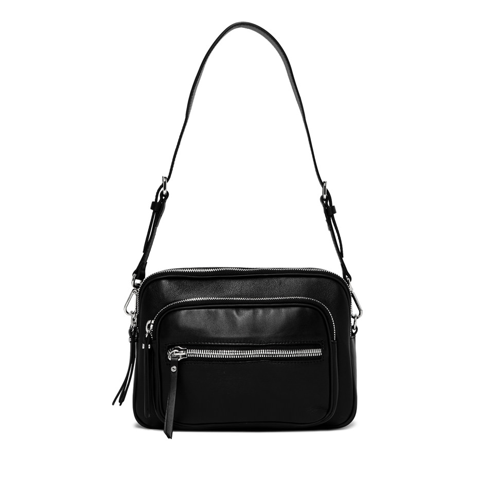 GIANNI CHIARINI: COURTNEY MEDIUM BLACK SHOULDER BAG