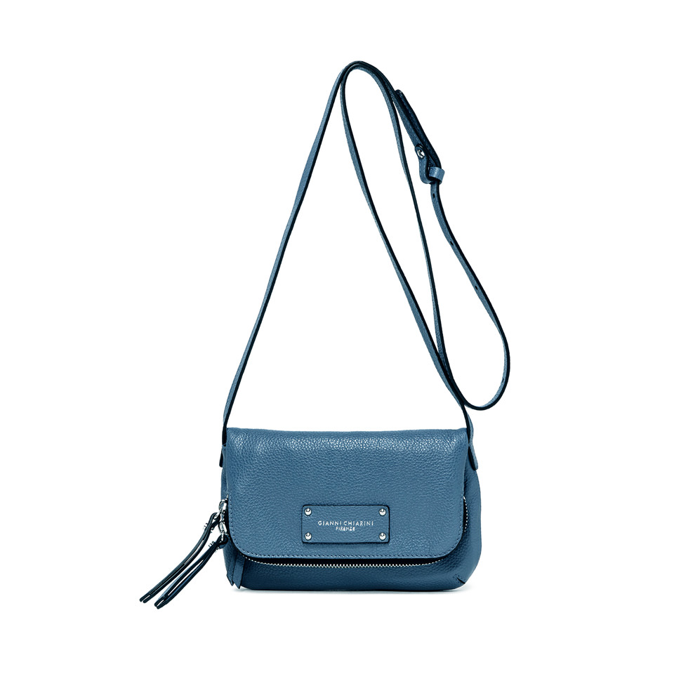 GIANNI CHIARINI: DELIA SMALL SKY BLUE SHOULDER BAG