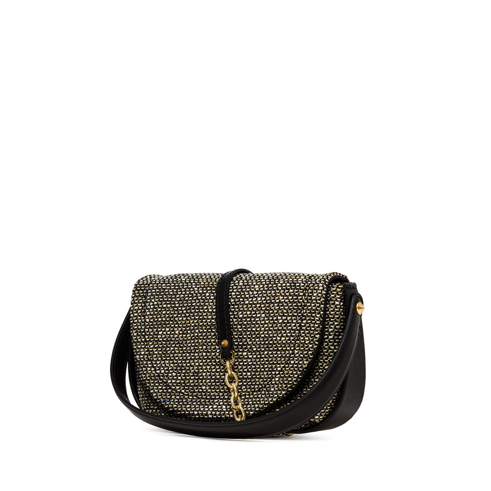 GIANNI CHIARINI: MEDIUM SIZE DIANA CROSSBODY BAG COLOR BLACK