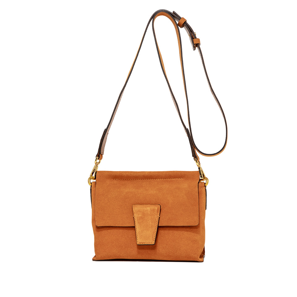 GIANNI CHIARINI: ELETTRA SMALL ORANGE SHOULDER BAG