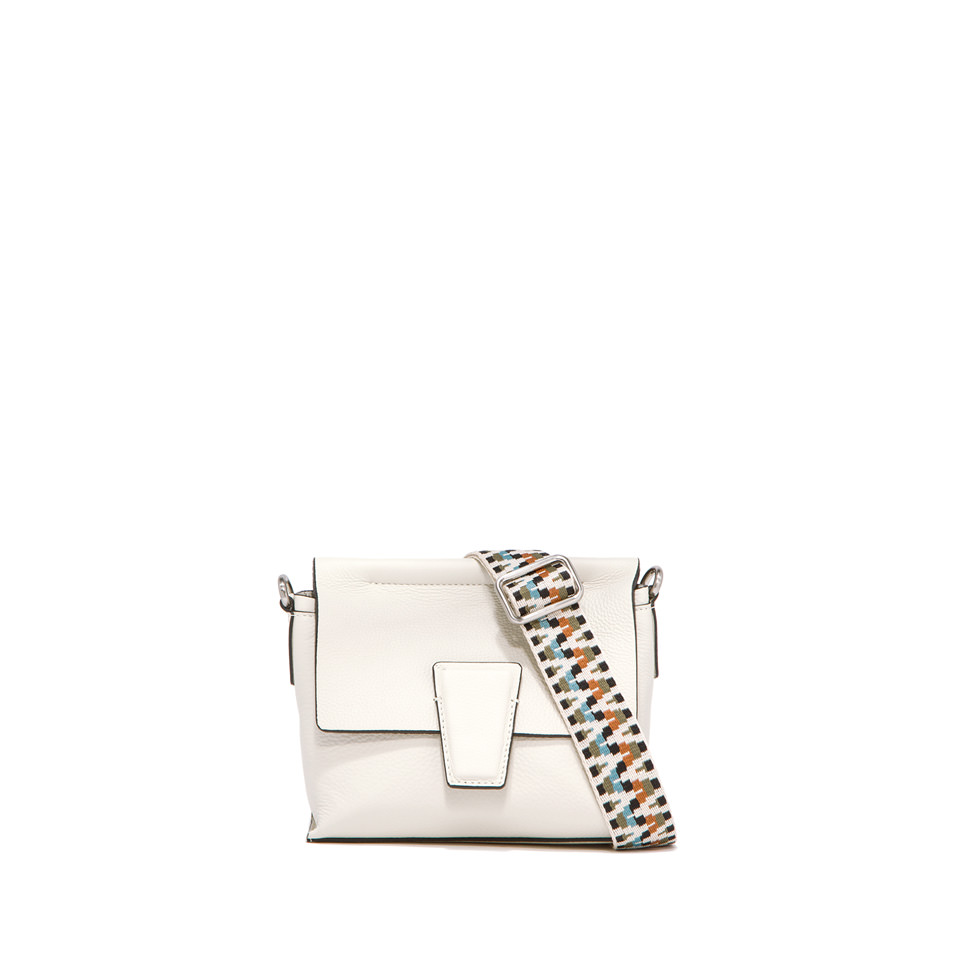 GIANNI CHIARINI: SMALL SIZE ELETTRA CROSSBODY BAG COLOR WHITE