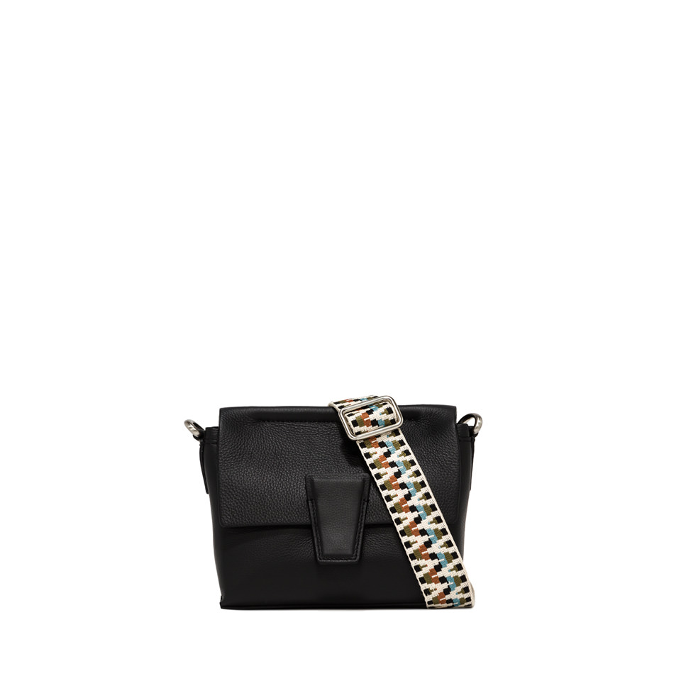 GIANNI CHIARINI: SMALL SIZE ELETTRA CROSSBODY BAG COLOR BLACK