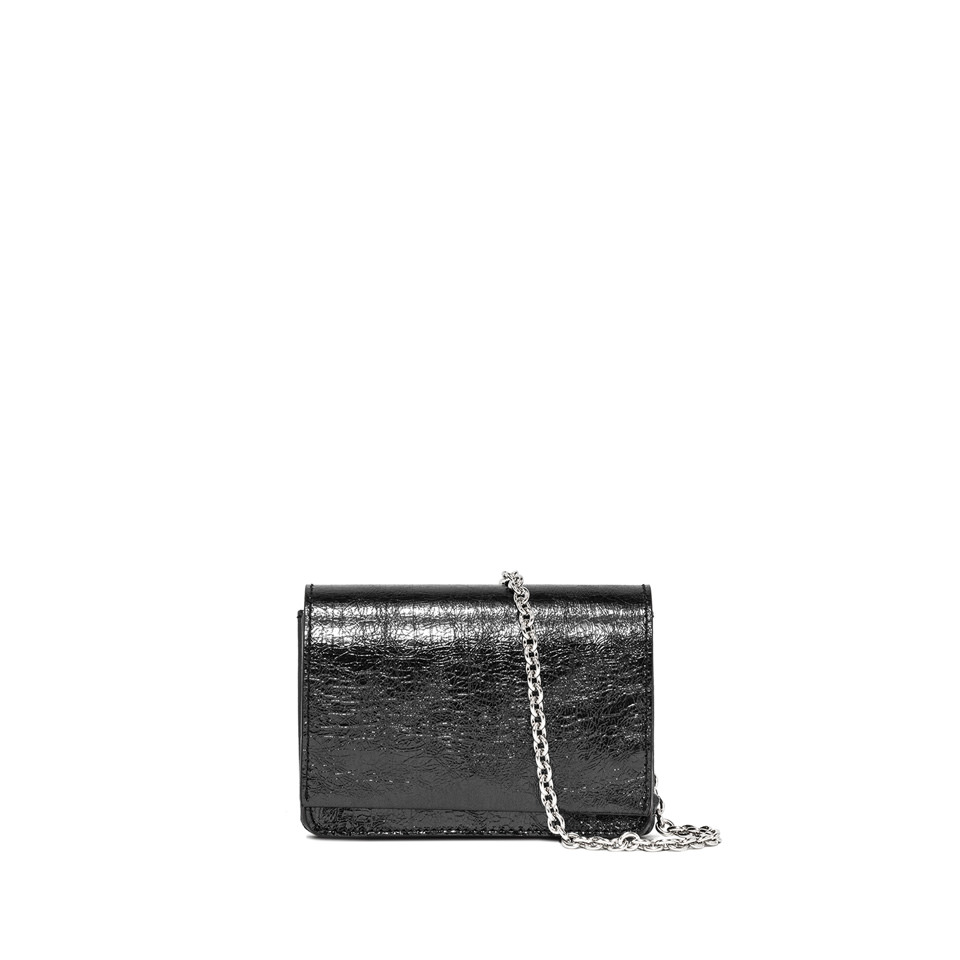 GIANNI CHIARINI: SMALL SIZE EMILIA CROSSBODY BAG COLOR GRAY