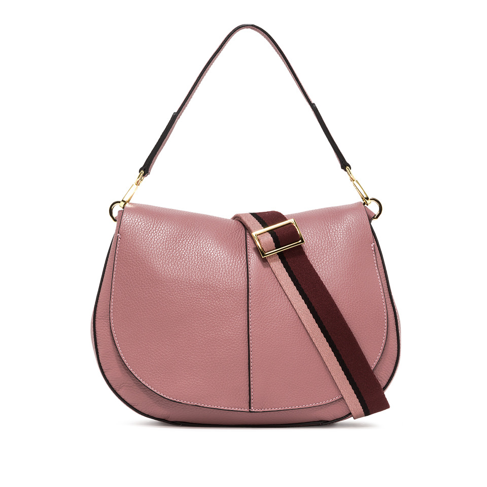 GIANNI CHIARINI: LARGE SIZE HELENA ROUND SHOULDER BAG COLOR PINK