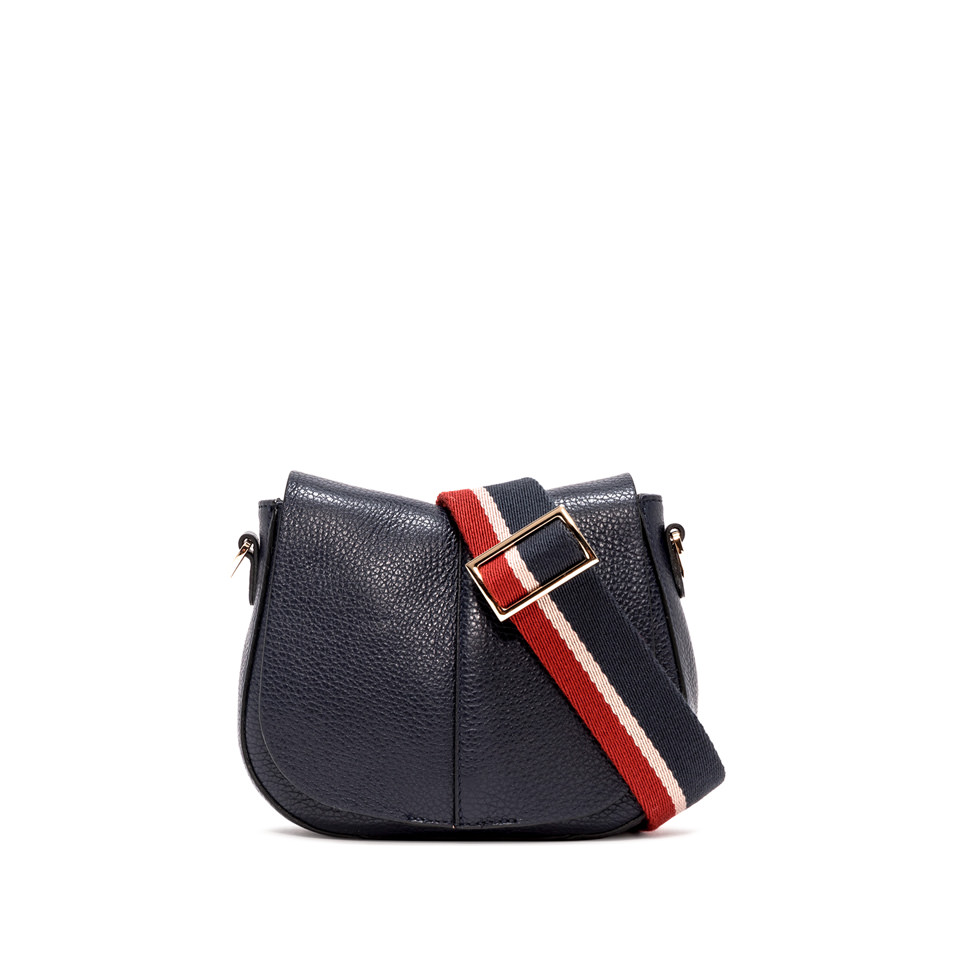 GIANNI CHIARINI: SMALL SIZE HELENA ROUND CROSSBODY BAG COLOR BLUE