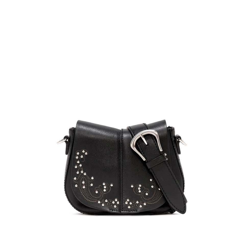 GIANNI CHIARINI: SMALL SIZE HELENA ROUND CROSSBODY BAG COLOR BLACK