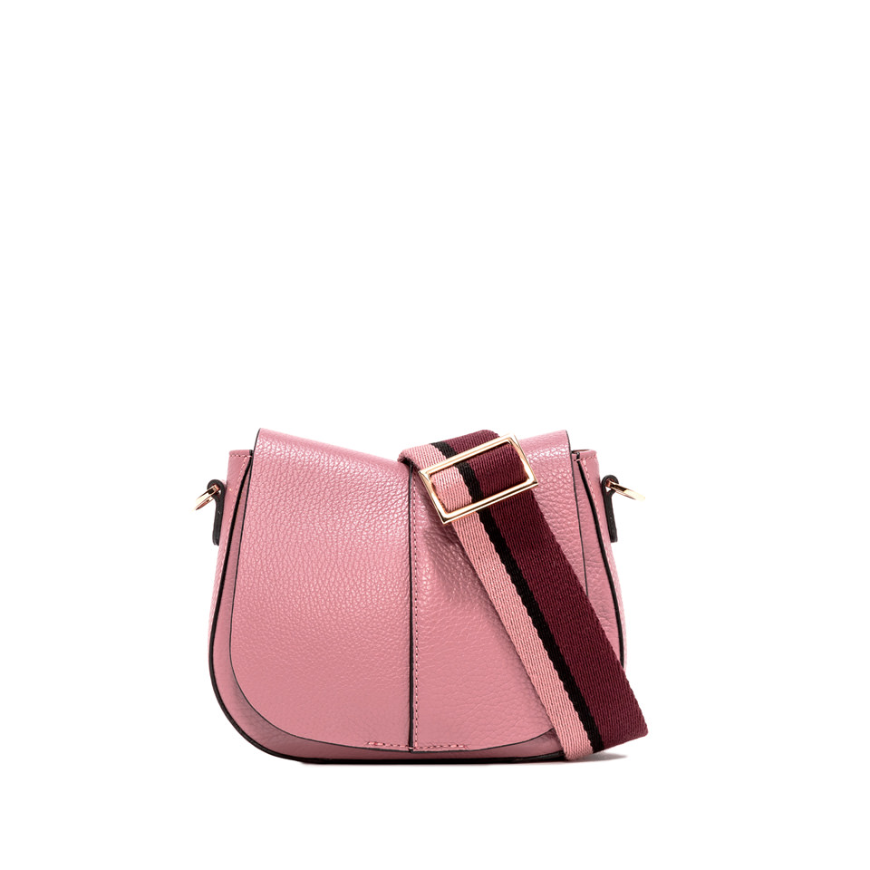 GIANNI CHIARINI: SMALL SIZE HELENA ROUND CROSSBODY BAG COLOR PINK
