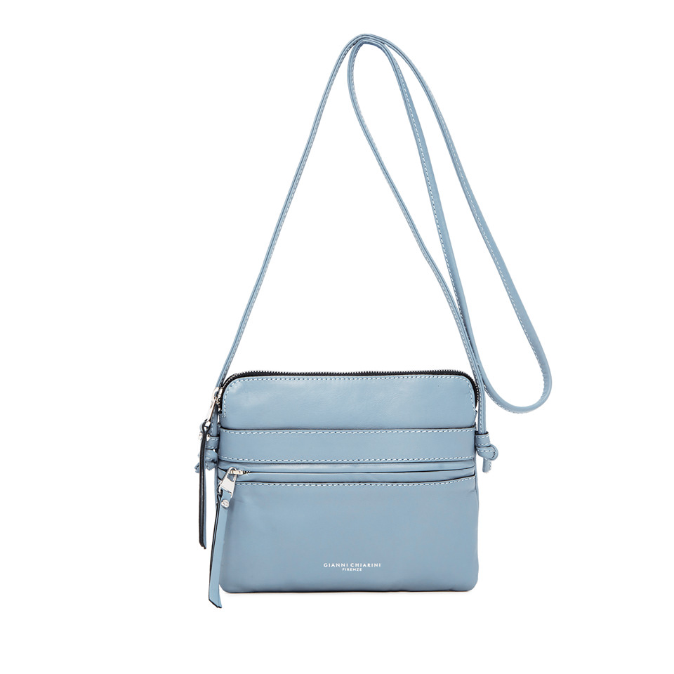 GIANNI CHIARINI: MEDIUM SIZE JOURNEY CROSSBODY BAG COLOR LIGHT BLUE