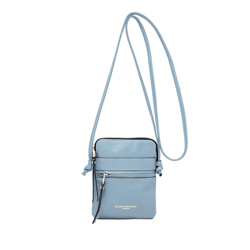 GIANNI CHIARINI: SMALL SIZE JOURNEY CROSSBODY BAG COLOR LIGHT BLUE