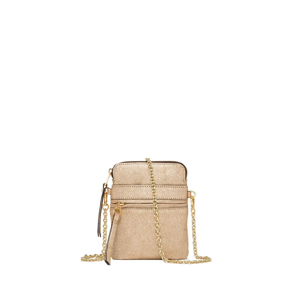 GIANNI CHIARINI: SMALL SIZE JOURNEY CROSSBODY BAG COLOR GOLD