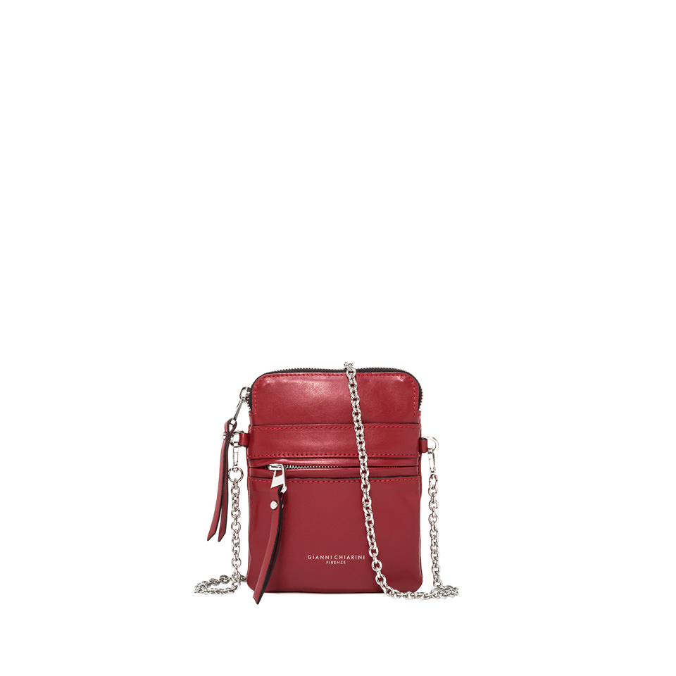 GIANNI CHIARINI: SMALL SIZE JOURNEY CROSSBODY BAG COLOR RED