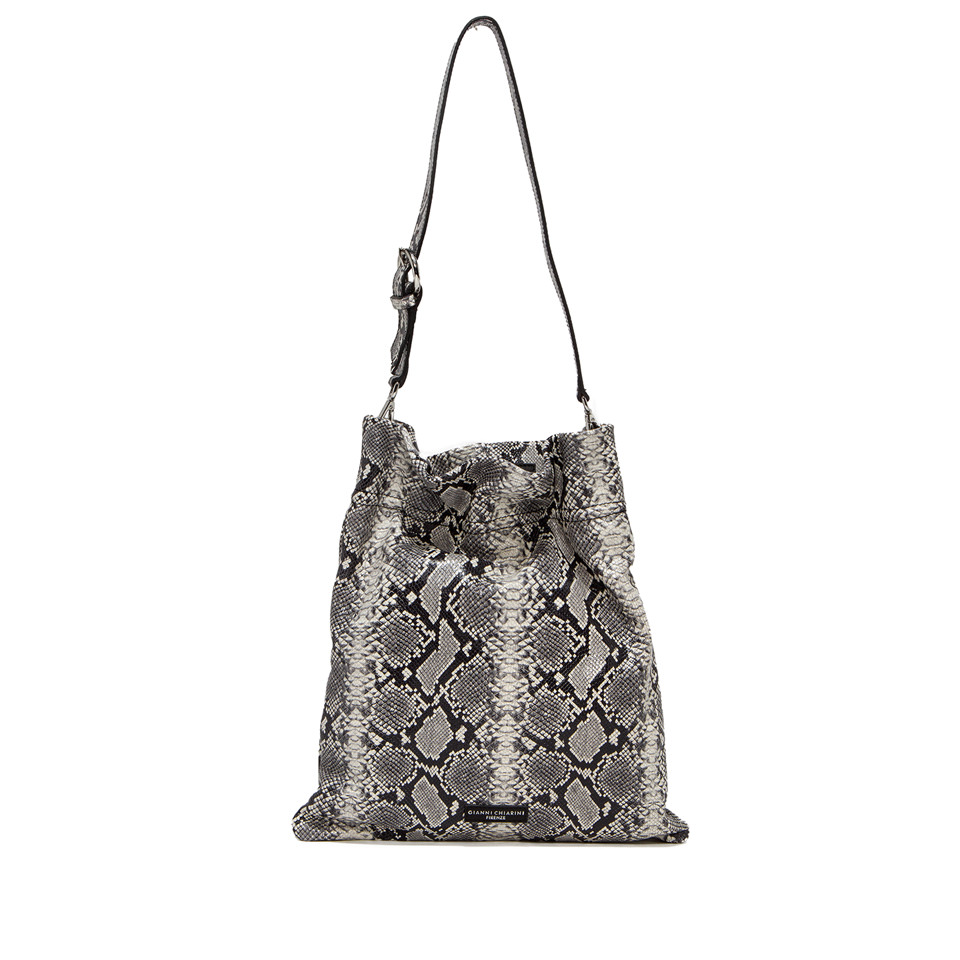 GIANNI CHIARINI: LARGE SIZE MEMORY SHOULDER BAG COLOR GREY