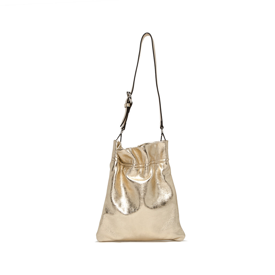 GIANNI CHIARINI: MEDIUM SIZE MEMORY SHOULDER BAG COLOR GOLD