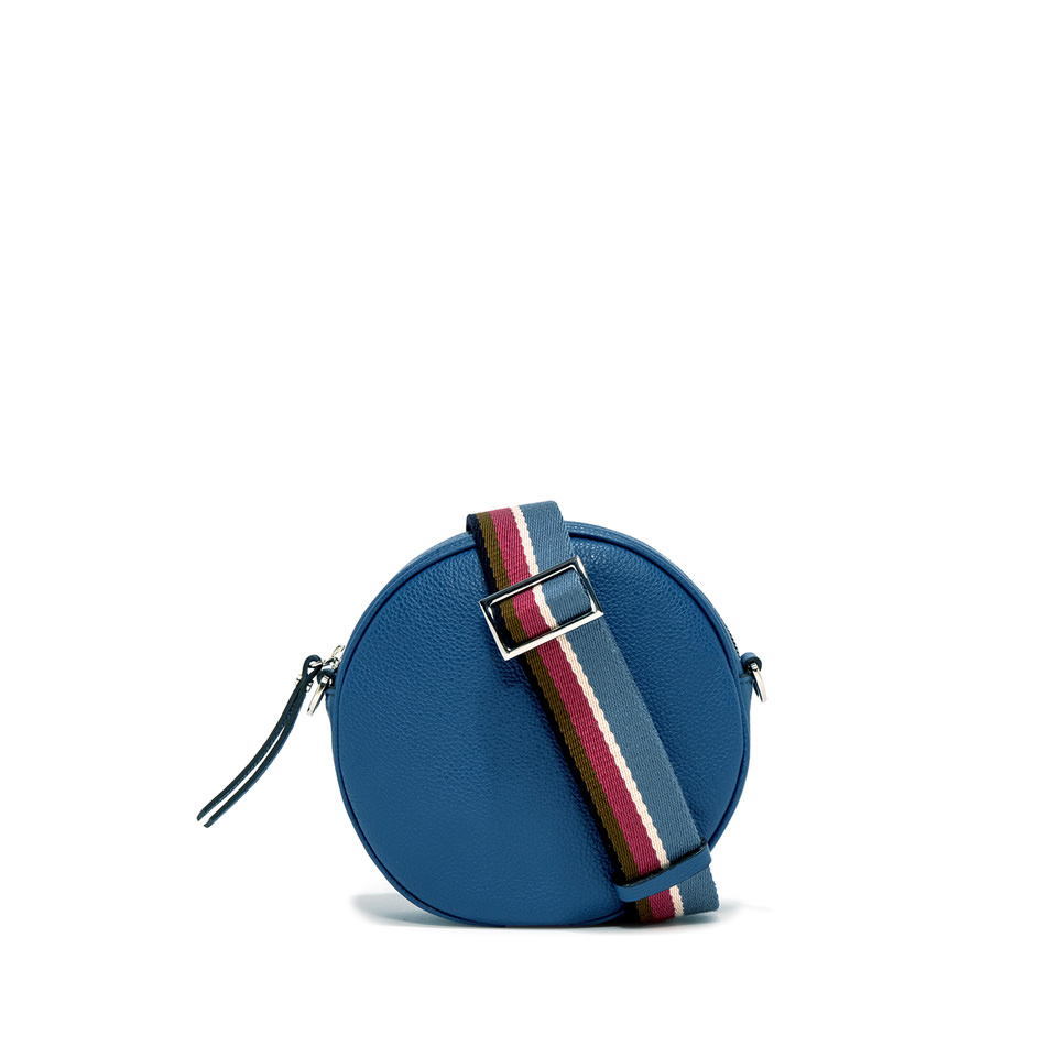 GIANNI CHIARINI: LARGE SIZE TAMBURELLO CROSSBODY BAG COLOR BLUE