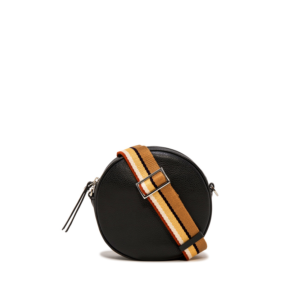 GIANNI CHIARINI: LARGE SIZE TAMBURELLO CROSSBODY BAG COLOR BLACK