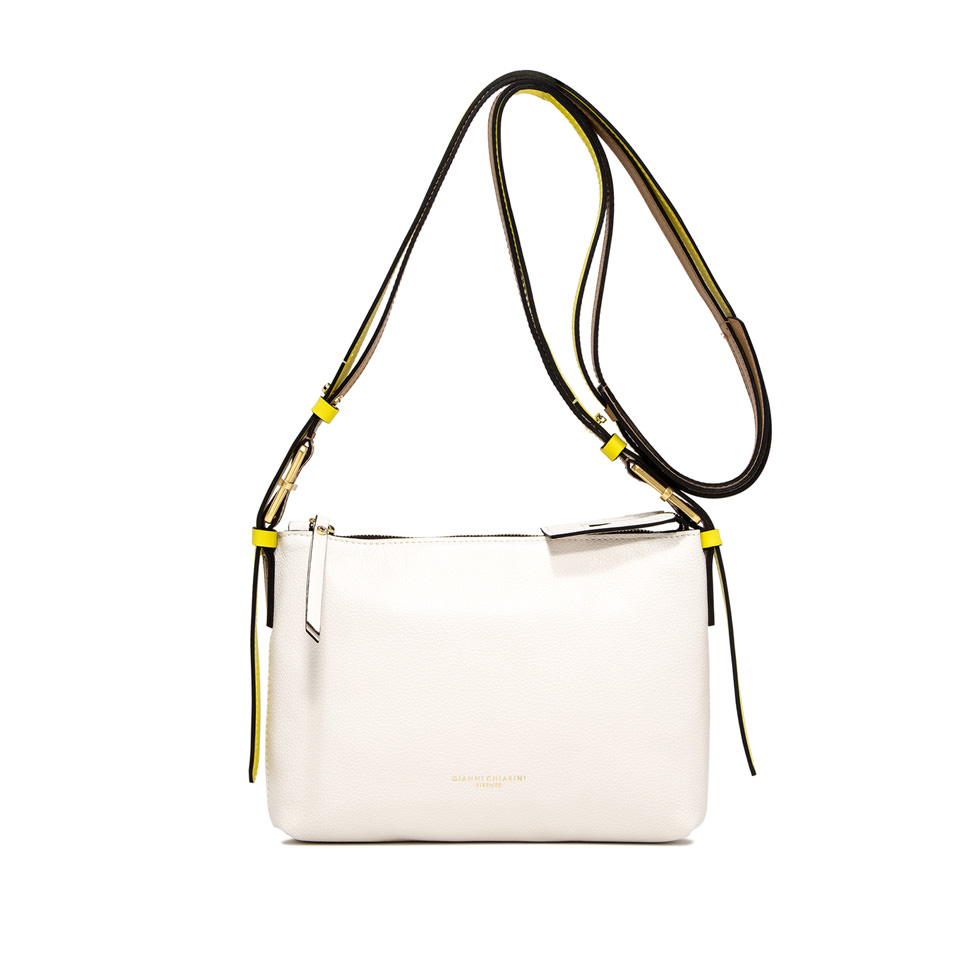 GIANNI CHIARINI: SMALL SIZE TANIA SHOULDER BAG COLOR WHITE