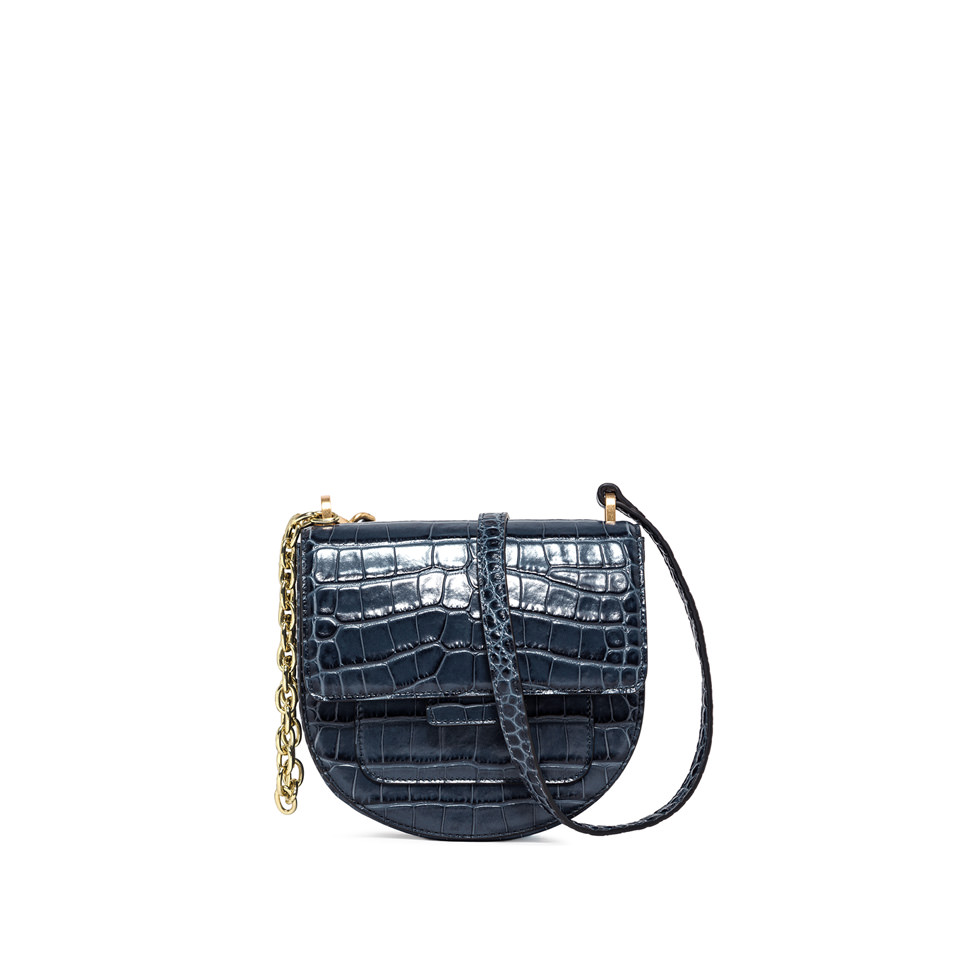 GIANNI CHIARINI: MEDIUM SIZE TERESA CROSSBODY BAG COLOR BLUE