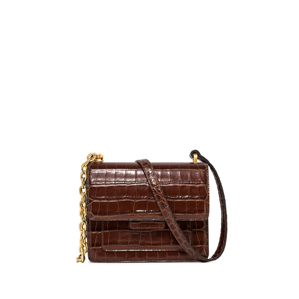GIANNI CHIARINI: MEDIUM SIZE TERESA CROSSBODY BAG COLOR BROWN
