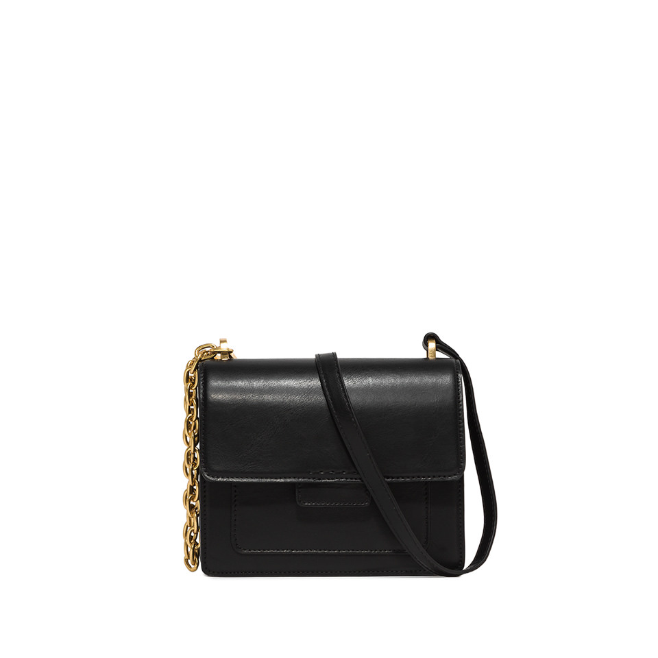 GIANNI CHIARINI: MEDIUM SIZE TERESA CROSSBODY BAG COLOR BLACK