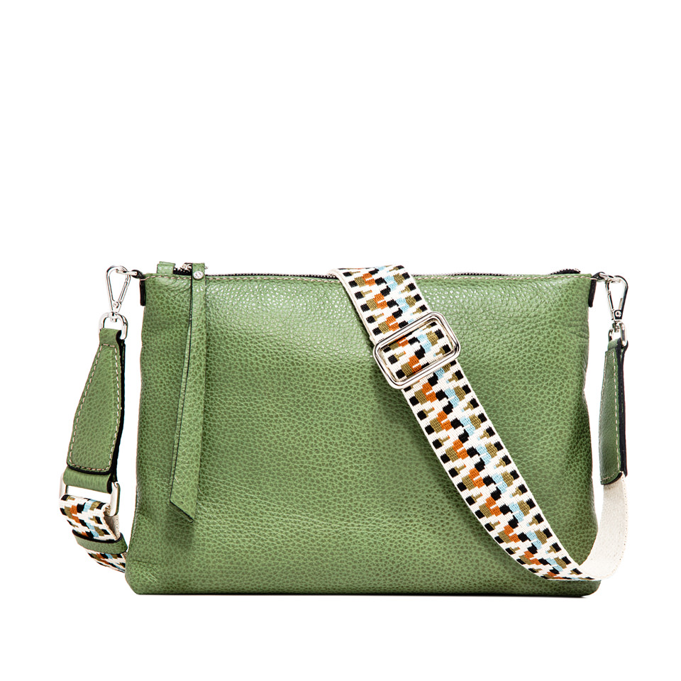 GIANNI CHIARINI: LARGE SIZE THREE CROSSBODY BAG COLOR GREEN
