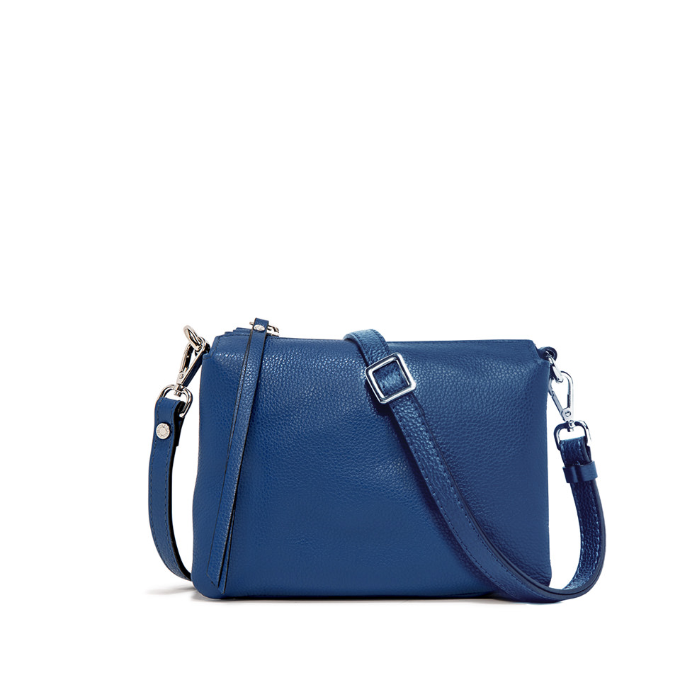 GIANNI CHIARINI: THREE MEDIUM  BLUE HANDBAG