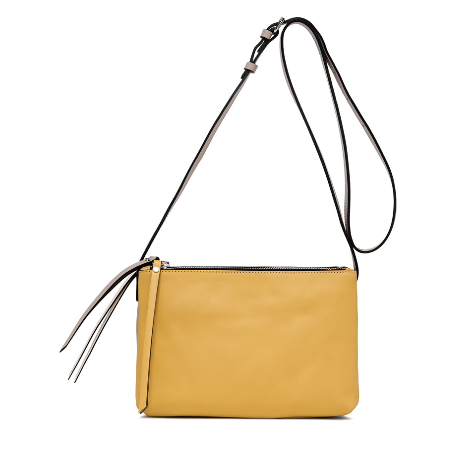 GIANNI CHIARINI: LARGE SIZE TRINNY CROSSBODY BAG COLOR BEIGE
