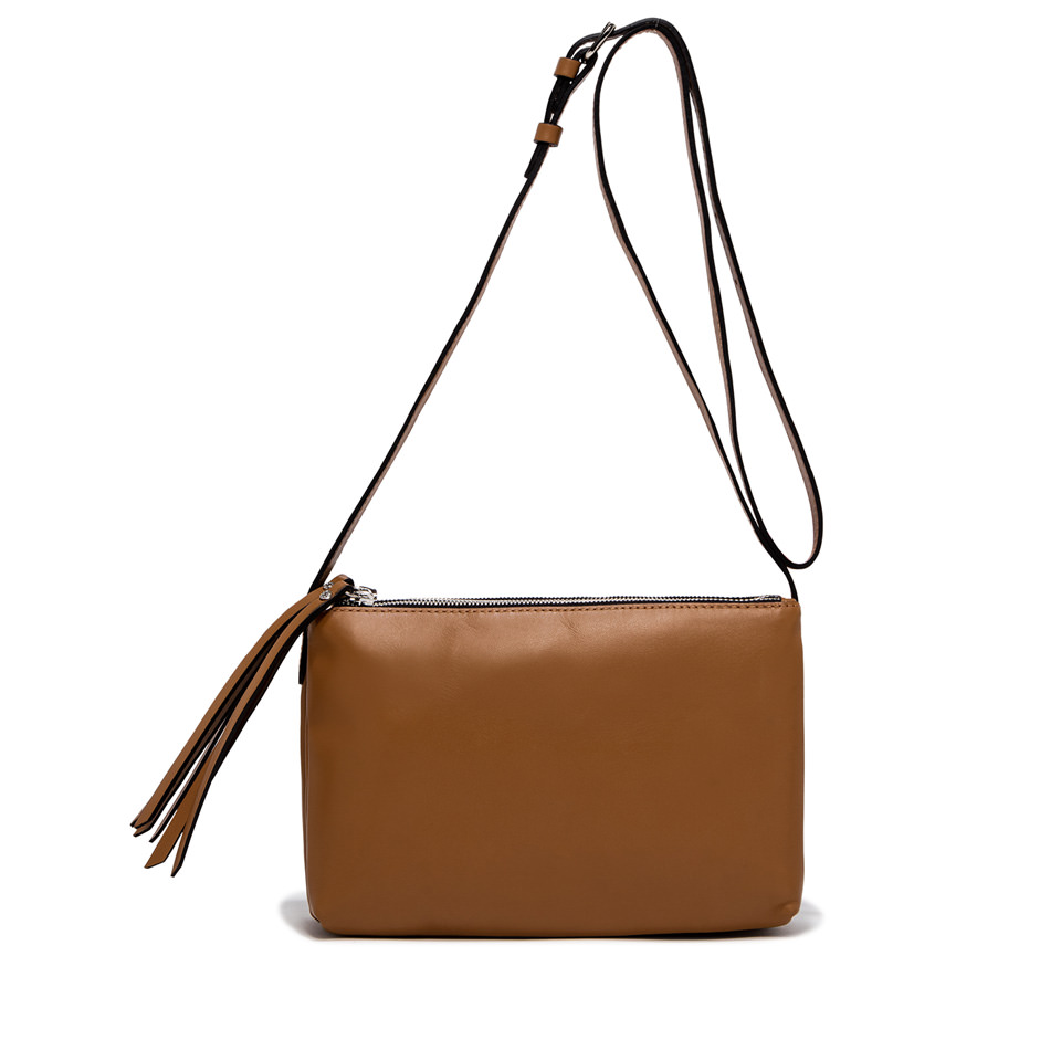 GIANNI CHIARINI: LARGE SIZE TRINNY CROSSBODY BAG COLOR BROWN