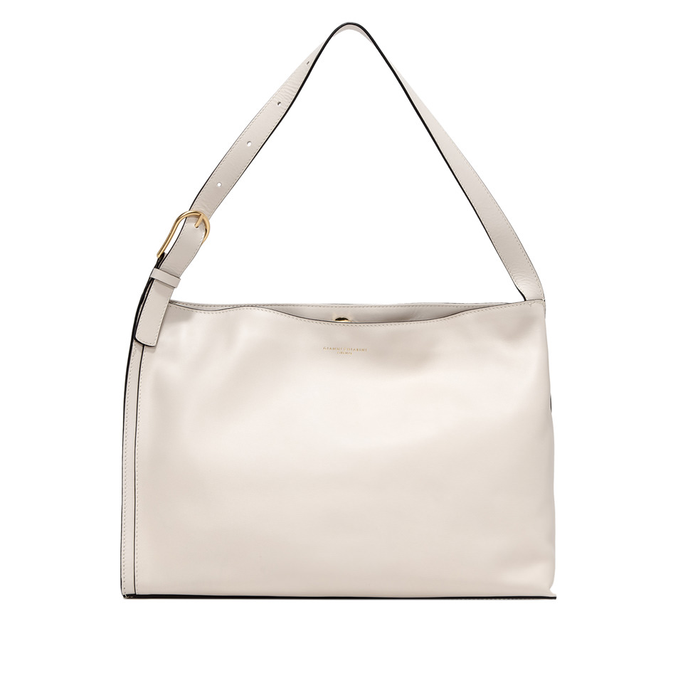 GIANNI CHIARINI: MEDIUM SIZE TWIGGY CROSSBODY BAG COLOR WHITE