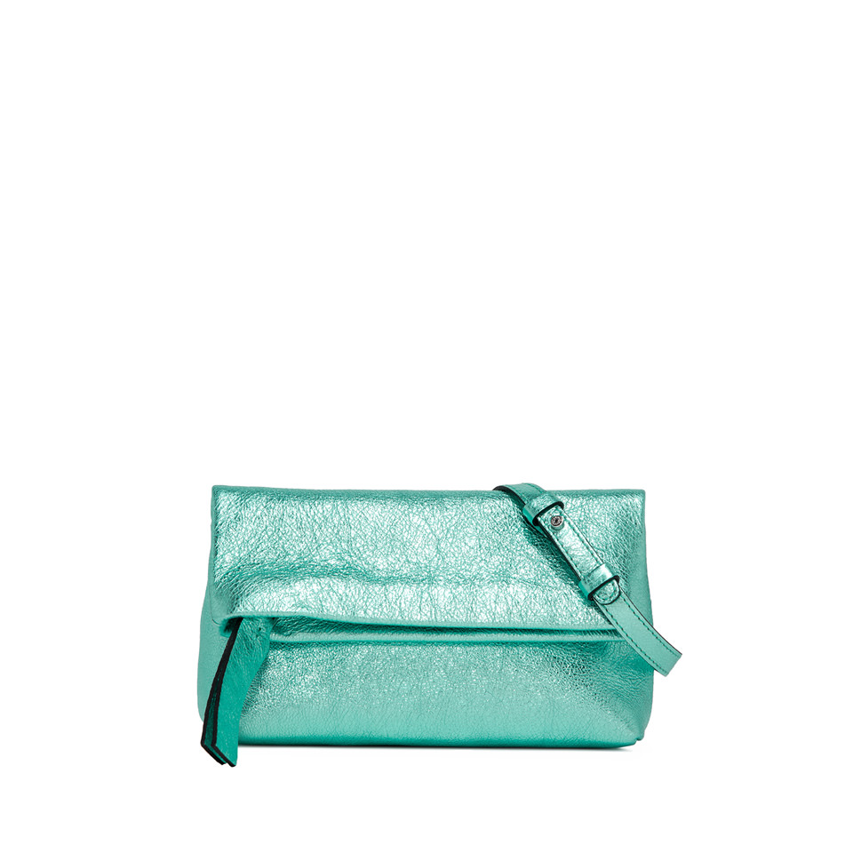 GIANNI CHIARINI: SMALL SIZE CHERRY BAG COLOR LIGHT BLUE