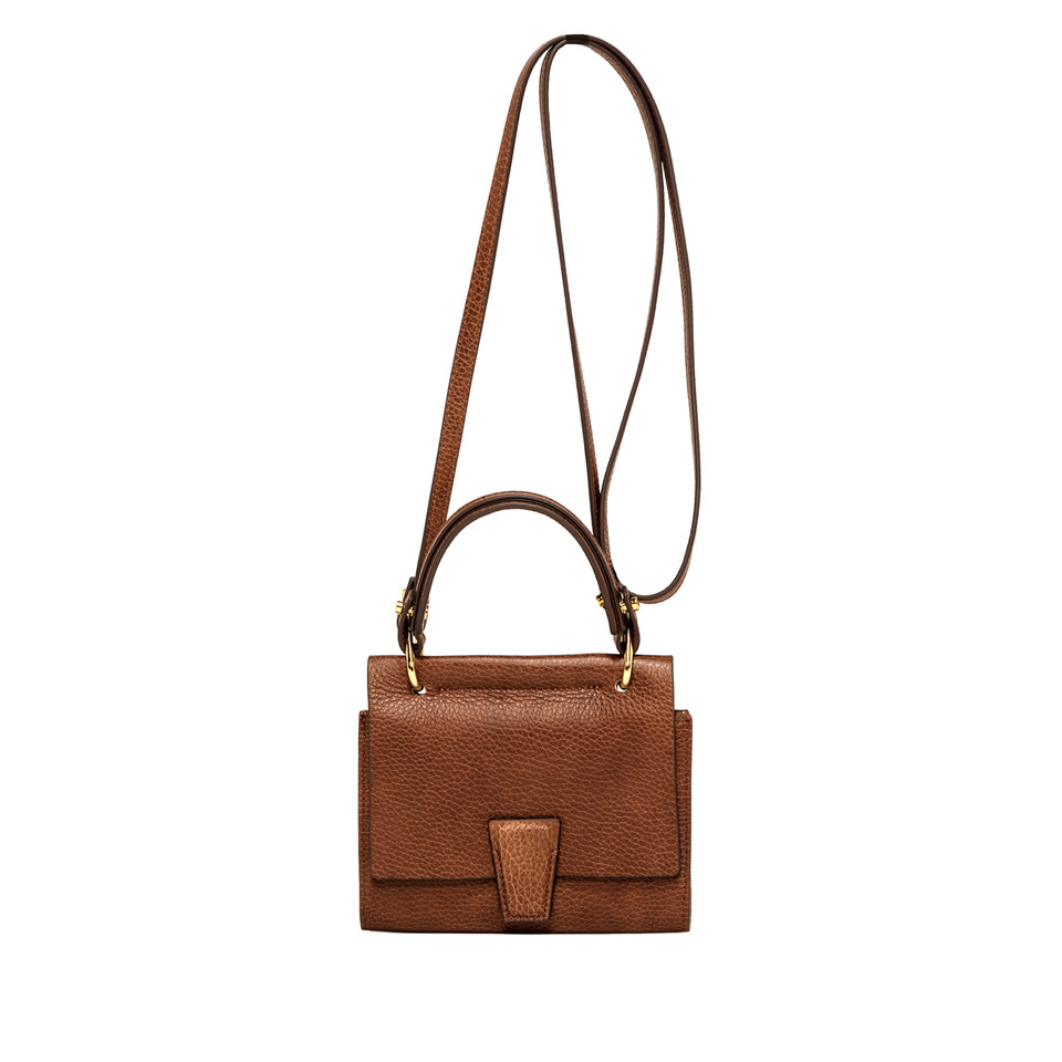 GIANNI CHIARINI: ELETTRA  MINI BAG WALLET SMALL BROWN