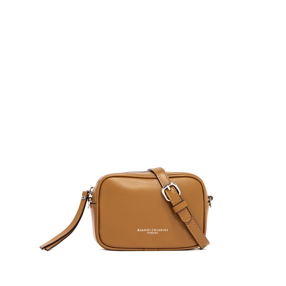 GIANNI CHIARINI: SMALL SIZE MINI HOLLY BAG COLOR BROWN