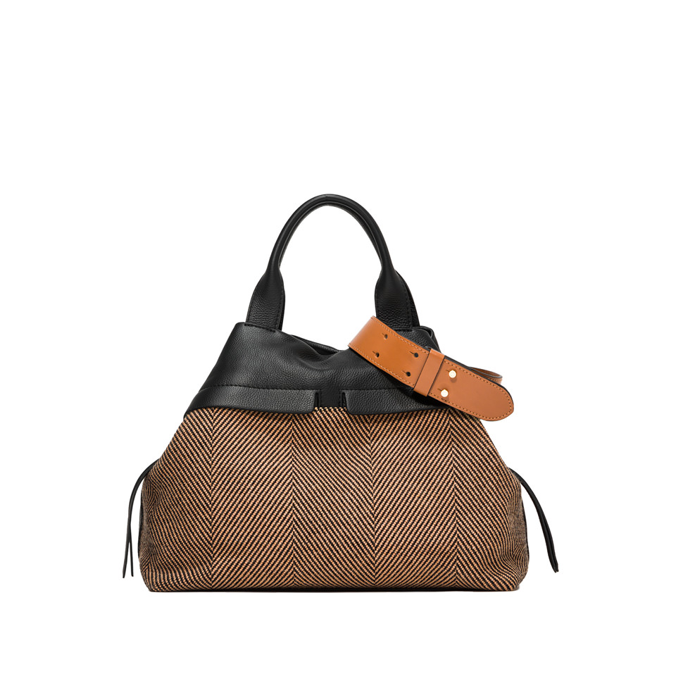 GIANNI CHIARINI: SHOULDER BAG DUNA COLOR BROWN