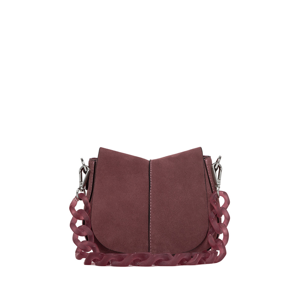 GIANNI CHIARINI: HELENA ROUND SHOULDER BAG SMALL COLOR ROSA