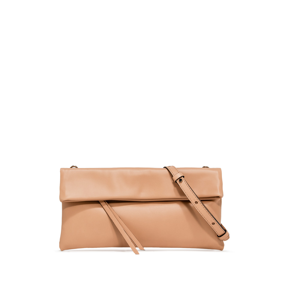 GIANNI CHIARINI: CHERRY SMALL NUDE CLUTCH BAG