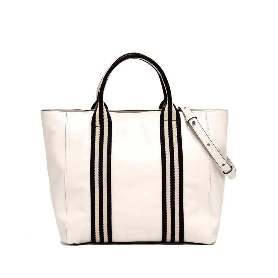 GIANNI CHIARINI: GINGER MEDIUM WHITE SHOPPING BAG