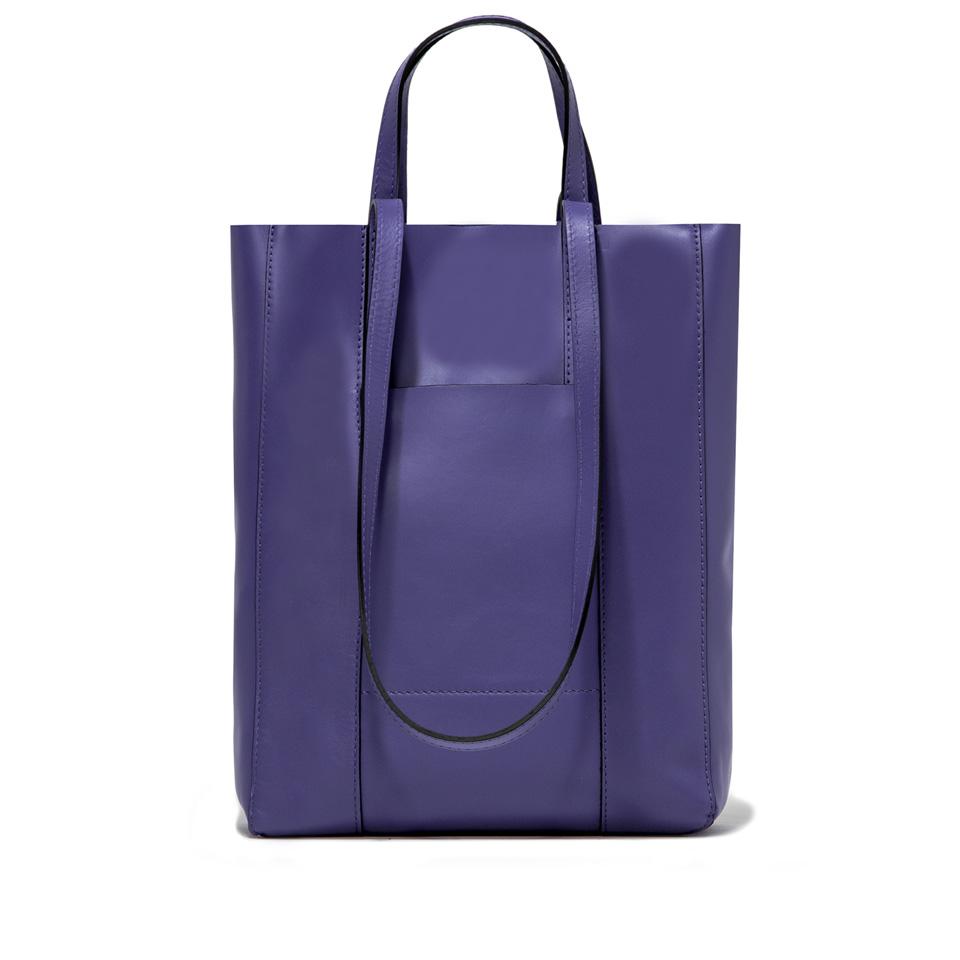 GIANNI CHIARINI: SUPERLIGHT LARGE PURPLE SHOPPING BAG