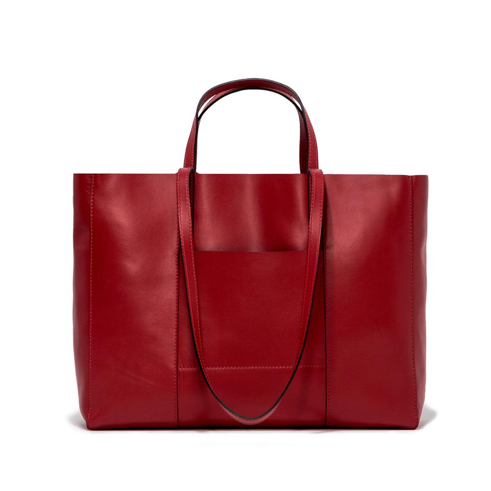 GIANNI CHIARINI: SUPERLIGHT LARGE RED  SHOPPING BAG