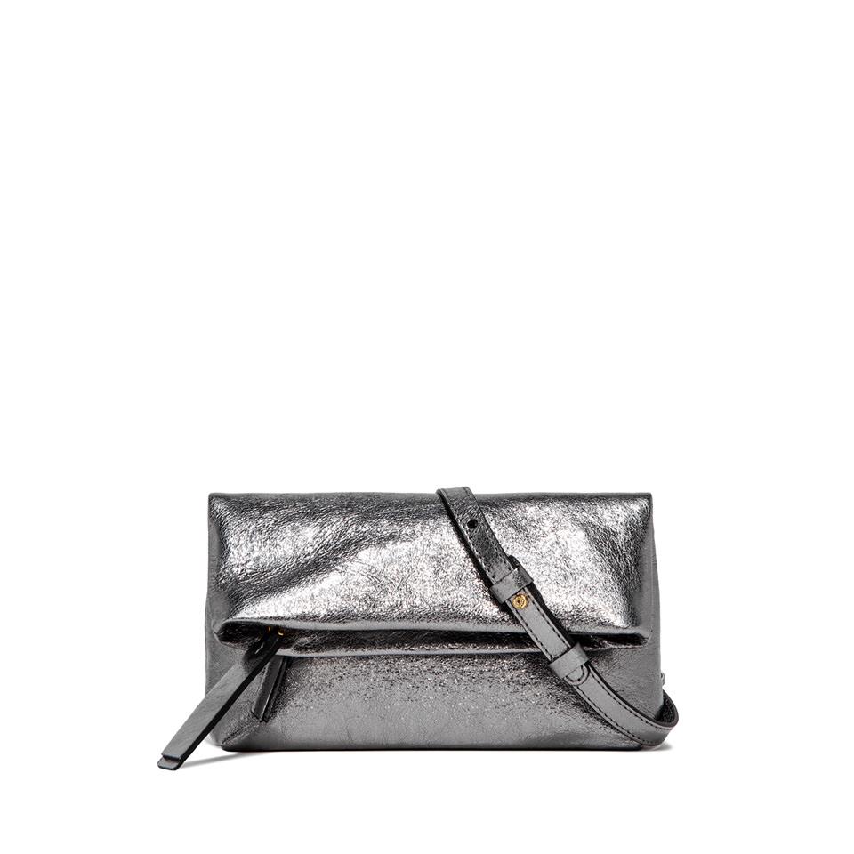 GIANNI CHIARINI: CHERRY  SMALL  SILVER  CLUTCH  BAG