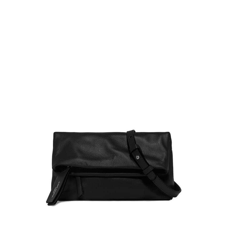 GIANNI CHIARINI: CHERRY  SMALL  BLACK  CLUTCH  BAG