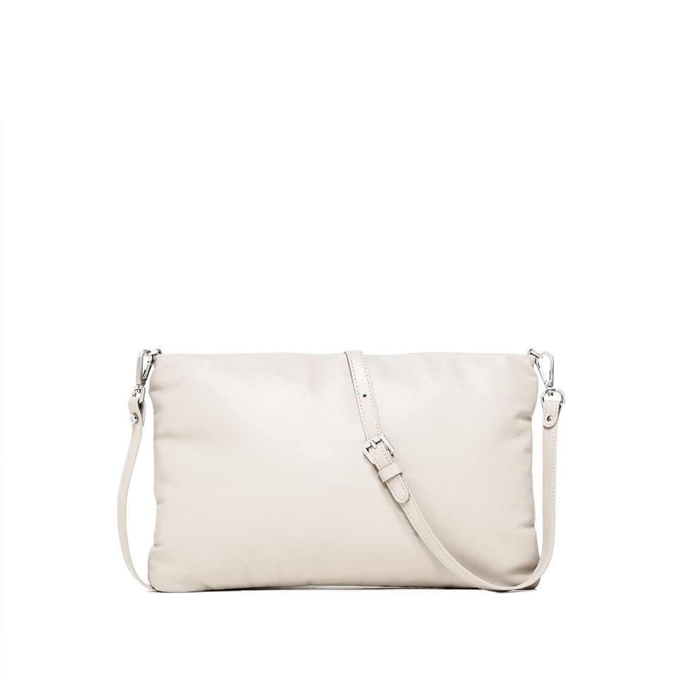 GIANNI CHIARINI: PIUMA  MEDIUM  WHITE  CLUTCH  BAG